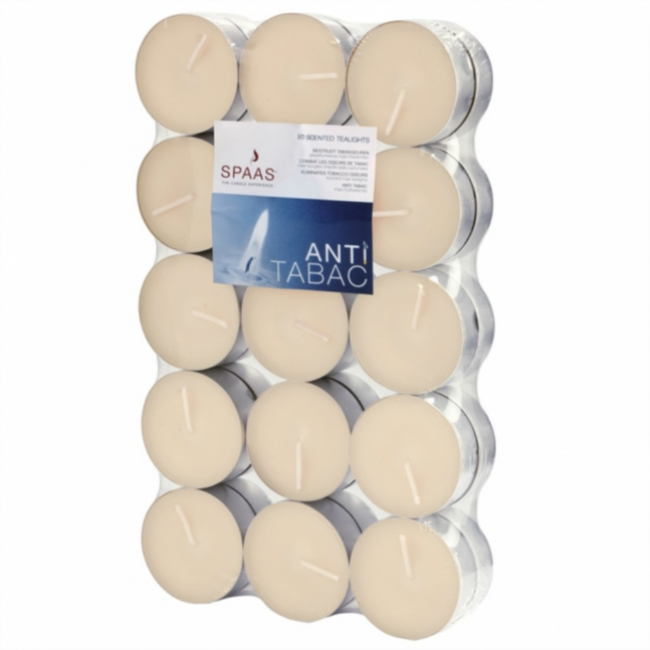 Scented tealights 30/1 Anti-tobacco